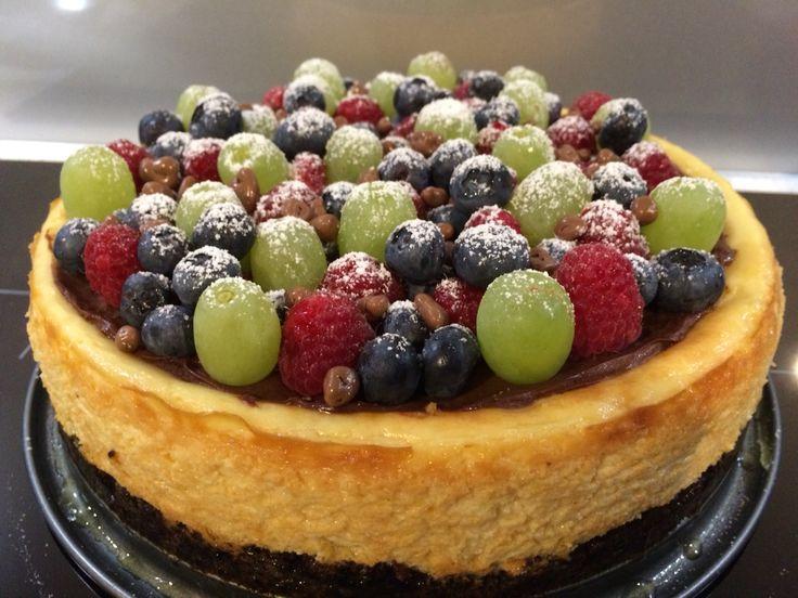 Lemon and Grand Marnier Cheesecake with Berries and Cadbury Crunch