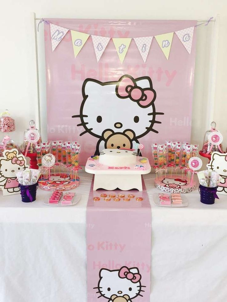 Hello Kitty Birthday Party Ideas Photo 1 Of 10 Hello Kitty Theme Party Hello Kitty Birthday Party Hello Kitty Birthday