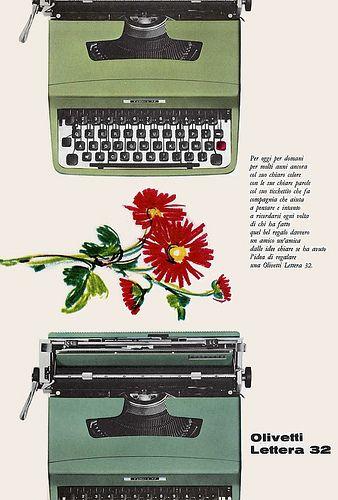 Olivetti Lettera 32 Advertisement #TuscanyAgriturismoGiratola