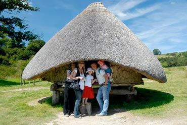 A reconstructed Iron Age Hill Fort, Castell Henllys in Pembrokeshire is an evocative site where roundhouses have been built on original foundations. They give a real feeling of what Celtic life might have been like 2,000 years ago. For more up to date holiday accommodation check out these Pembrokeshire holiday cottages http://www.qualitycottages.co.uk/pembrokeshire/pembrokeshire-holiday-cottages.php