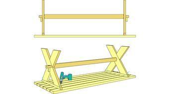 Bygga matbord med kryssben