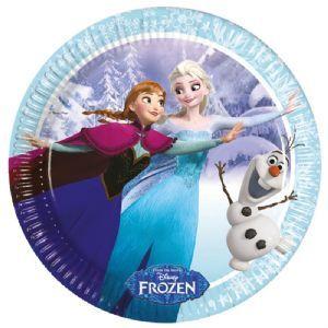 Plates: Disney Frozen Ice Skating 23cm Paper Party Plates (8pk)