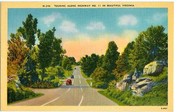 Vintage Virginia Postcard The Scenic Drive Along Us Route 11 Scenic Drive Scenic Scenic Views