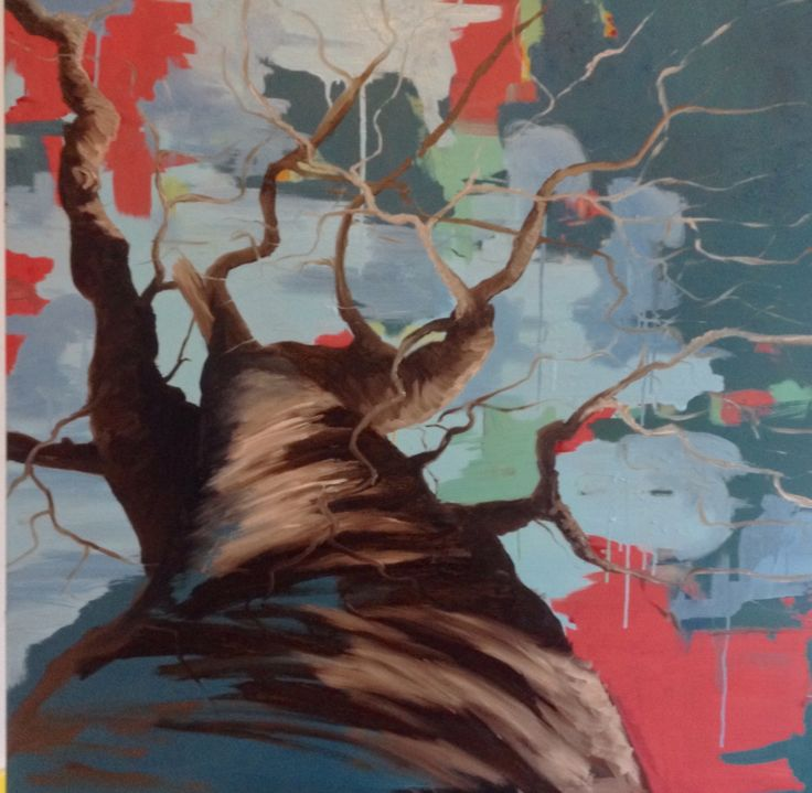 Painting by Aharkes. Acrylic and oil on canvas. 80x80 cm. #aharkes #annemetteharkes #artwork #artoftheday #art #painting #gallery #maleri #maleriertilsalg