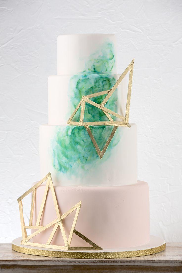 Best Geometric Cakes Images On Pinterest Geometric Cake