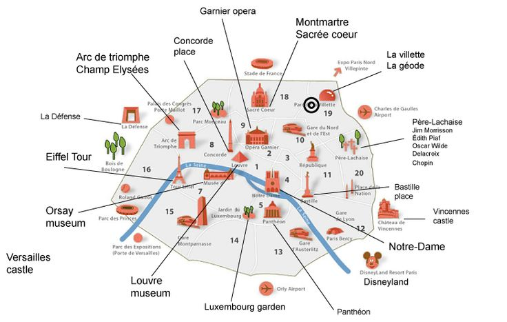 paris top tourist attractions map interesting sites in a week
