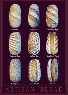 pain artisanal / artisan bread scoring patterns