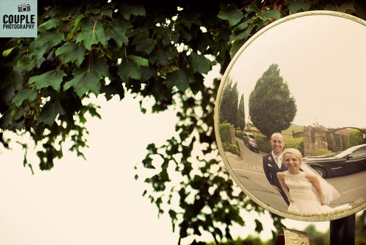 Fun mirror shot. Wedding Photography at Mount Wolseley by Couple Photography.