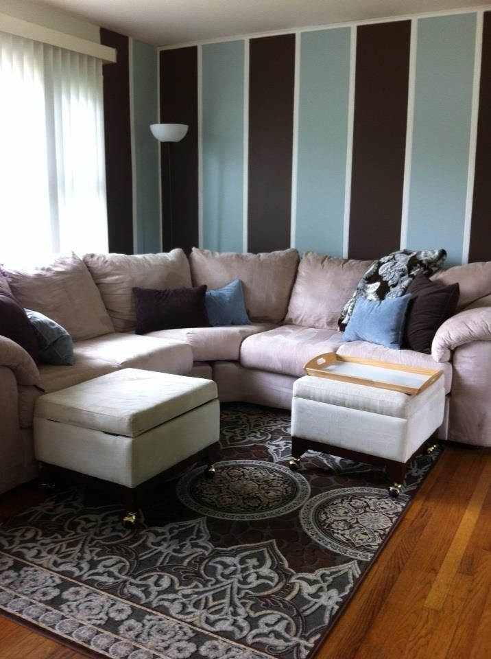... Living Room Decor Brown And Blue