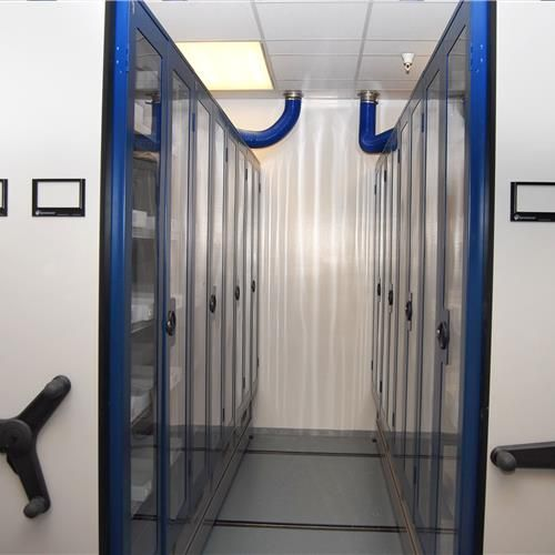 Click to read the full story on how a pharmaceutical storeroom was integrated with an HVAC system. | Spacesaver.com