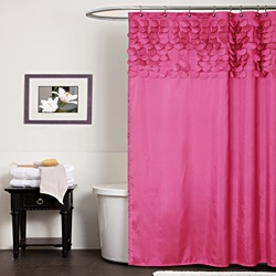 @Overstock - Protect your privacy in style with this pretty pink shower curtain. Featuring a 100 percent polyester construction, it offers style and durability. The shocking pink color palette and 3D design is sure to add character to your bathroom. http://www.overstock.com/Bedding-Bath/Lush-Decor-Lillian-Pink-Shower-Curtain/6820859/product.html?CID=214117 $39.99
