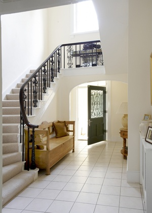 Painting to Hall, Stairs and Landing in house in Hertfordshire.