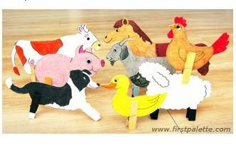 """Your kids will love these adorable crafts with clothespins - especially since they can make all their favorite farm animals with them. Use this Cute Clothespin Animal Farm Craft to make a whole barnyard of chickens, cows, dogs, ducks, goats, horses, pigs, and sheep. These printable <a href=""""http://www.allfreekidscrafts.com/tag/Animals"""" target=""""_blank"""" title=""""Animals"""">farm animal crafts</a> only require a few materials to bring to life. If you want, yo..."""