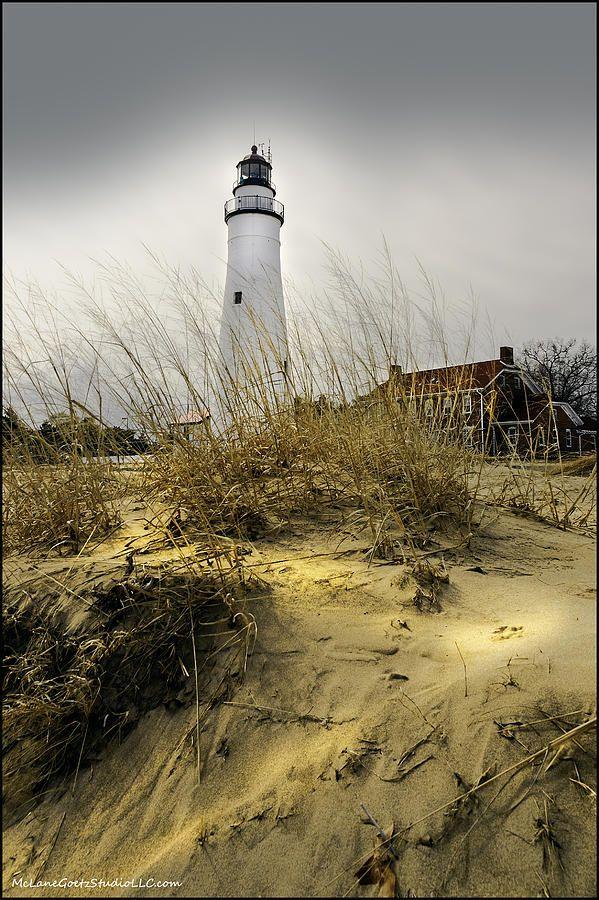The Lighthouse Beach At Fort Gratiot Michigan Photograph
