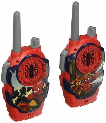Your search for the best Walkie Talkies for the kids will end up because your 'Friendly Neighbor Spiderman' is waiting to blow the mind of your kids! Yes, the Marvel Ultimate Spiderman Web Walkie Talkies has all the bells and whistles you wish to have in a walkie talkie.