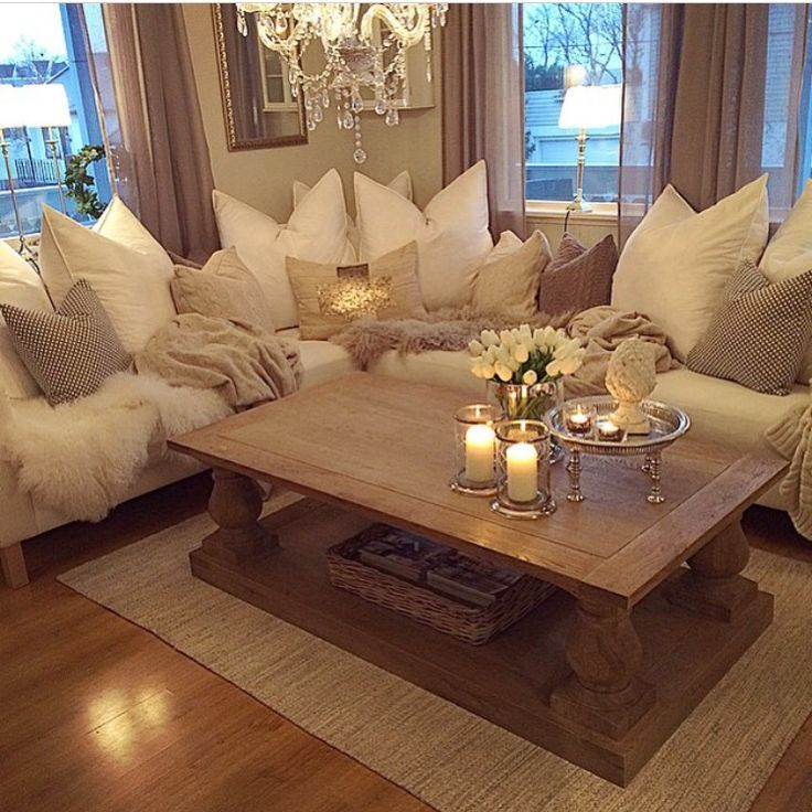 Those Huge Pillows! Love The Warm Feeling Of This Room. Cozy ...