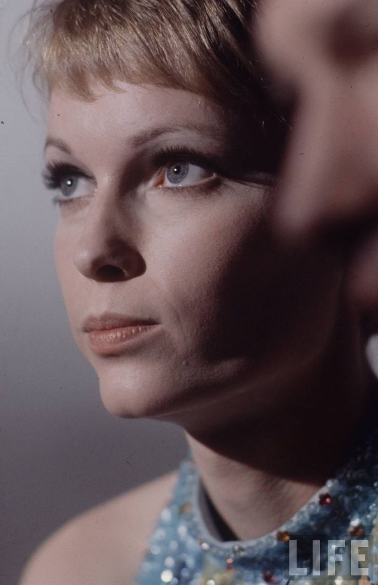 Mia Farrow on the set of A Dandy in Aspic by Anthony Mann, 1968. Photo by Bill Eppridge