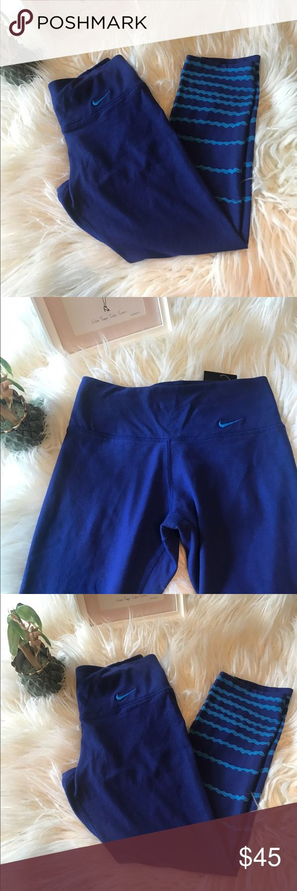New with tag Nike women's workout capris New with tag Nike women's legend burnout tight fit training capris in blue. Compression fit keeps everything tight to the body for maximum support during high-performance activity. 💙💙 Nike Pants Capris