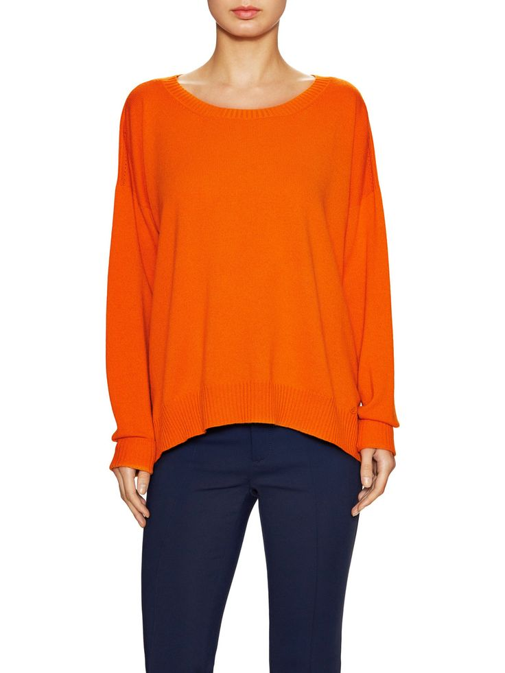 Cashmere Split Side Crewneck Sweater by Gucci Clothing & Accessories at Gilt