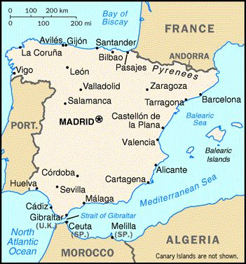 Map Of Spain And Africa Map Of Spain And Africa | Map Of Africa