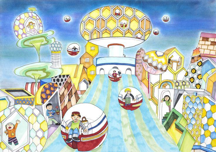 Capsule Car In BeeBee Town - Masaya Tsuruta | Toyota Dream Car Art Contest