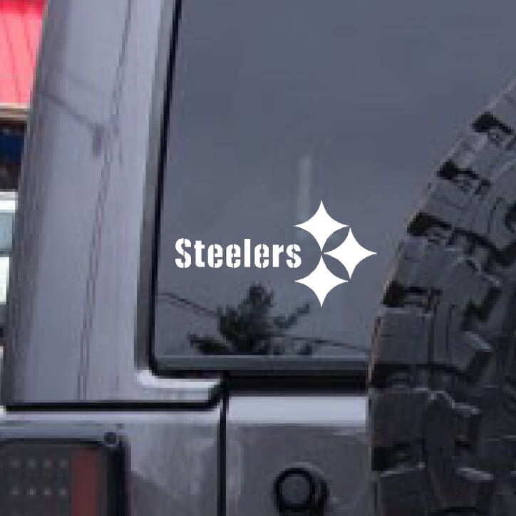 Pittsburgh Steelers football decal, FREE SHIPPING, White vinyl decal, football decal, sports decal, home decor, sports decor by MDdecals on Etsy https://www.etsy.com/listing/541683598/pittsburgh-steelers-football-decal-free
