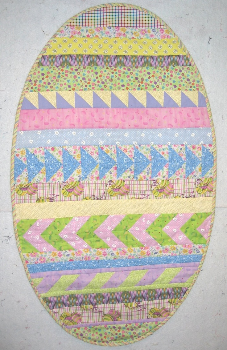 105 best easter quilts images on pinterest easter crafts easter easter egg table runner by robin gallagher negle Choice Image