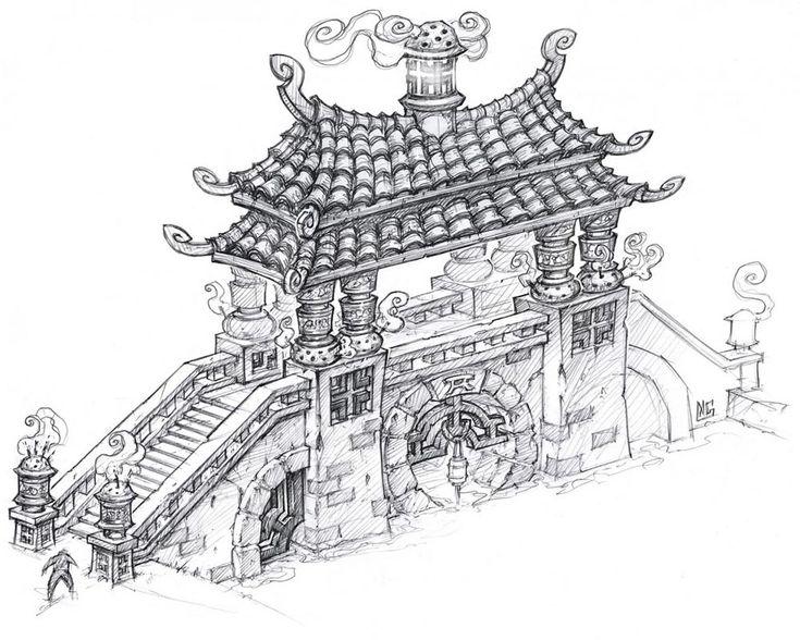 World of Warcraft: Mists of Pandaria Art & Pictures Prayer Bridge