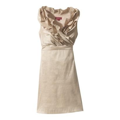 Women's Ruffle Neck Shantung Dress - $69.99 Target  - in taupe