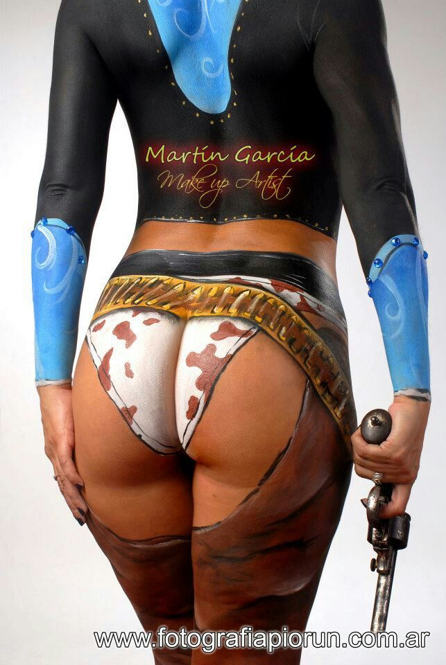 cowgirl body paint