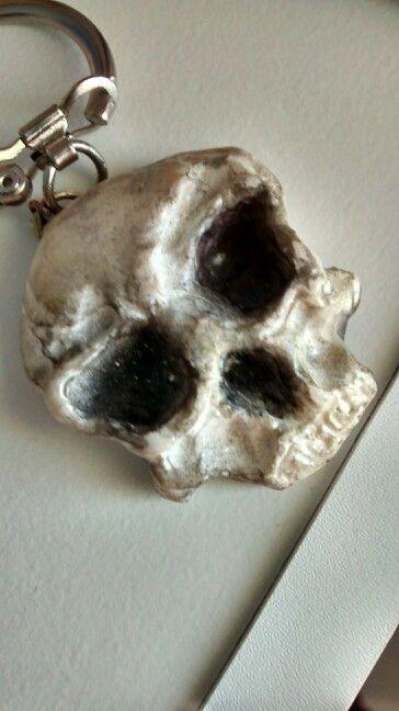 Skull polymer clay