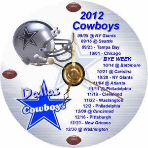 BRAND NEW 2012 Dallas Cowboys Football Schedule CD Clock | eBay