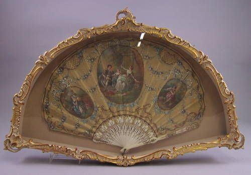 This Fan is up for auction in Estate. reflects Lalique. Was held in high esteem by Phillips Petroleum Heiress.
