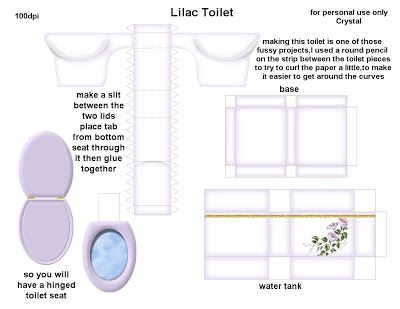 81 Best Dolls House Printables Bathroom Images On