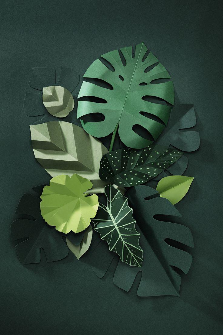 Paper leaf www.pandurohobby.com Paper by Panduro #decoration #DIY #paperfolding #folding #paper #art #panduro #origami #pyssel