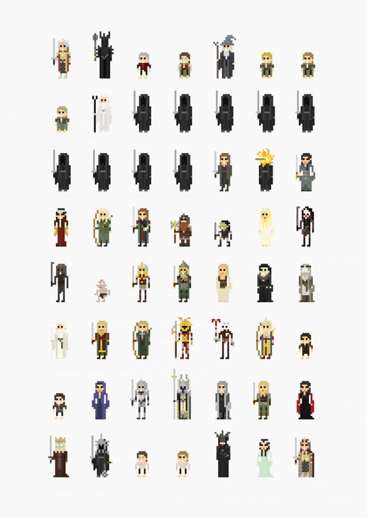 8-bit Movie Characters, Lord of the Rings