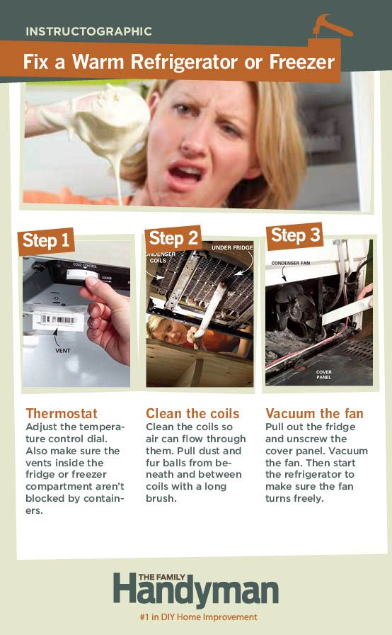 DIY Tutorial: How to Fix a Warm Refrigerator or Freezer.  Home repair home repair  http://homerepairexpert.com/how-to-change-air-conditioner-filters  www.homerepairexpert.com