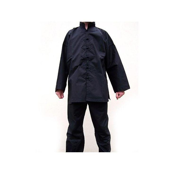 Kimono de Kung Fu Negro - €23.99   https://soloartesmarciales.com    #ArtesMarciales #Taekwondo #Karate #Judo #Hapkido #jiujitsu #BJJ #Boxeo #Aikido #Sambo #MMA #Ninjutsu #Protec #Adidas #Daedo #Mizuno #Rudeboys #KrAvMaga #Venum