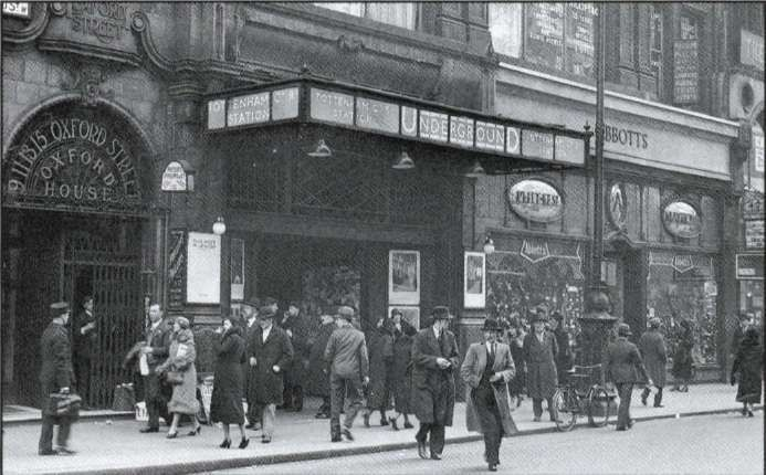 Entrance To Tottenham Court Road Station On Oxford Street