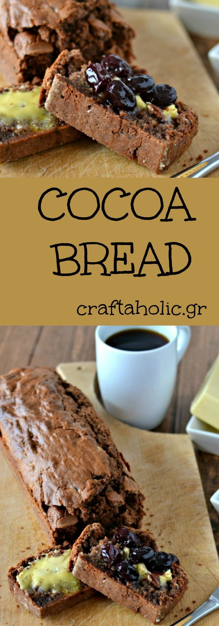 Have you ever thought of making cocoa bread? It's easy and it's sooo tasty! Perfect for breakfast and brunch!