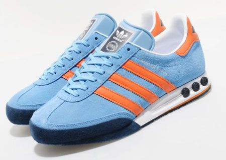 Adidas Kegler Super trainers back in college blue. #shoes #trainers #Adidas
