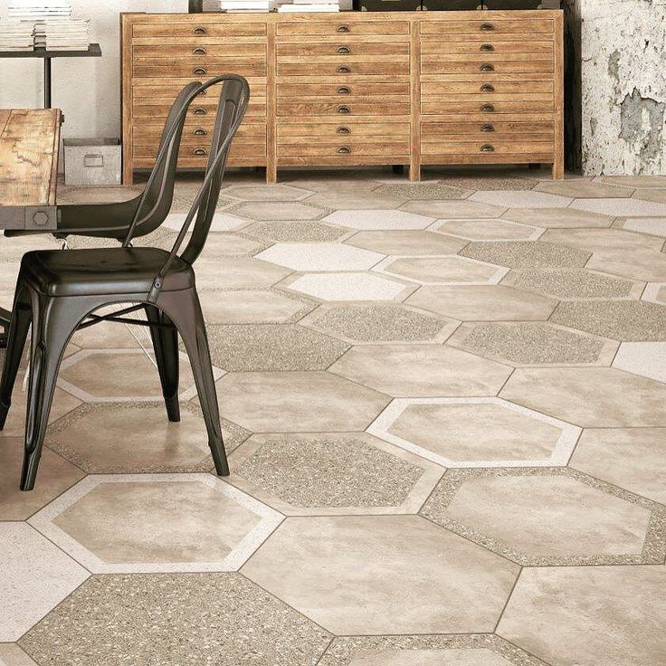 Loving our new Cocciopesto Hexagon 600mm porcelain tiles