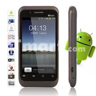 """WGA600 3.8"""" Multi-Touch Screen Android 2.2 Dual SIM Cameras Standby Quan-band GSM Smart Phone Black,$279.29"""