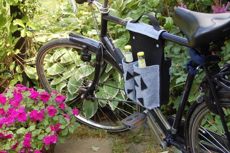 Nähanleitung Fahrradtasche für 4 Flaschen