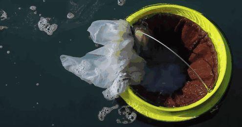 """O """"Seabin"""" é um contentor de lixo flutuante que pode coletar garrafas de plástico, papel, óleo, combustível e até detergente flutuando nos nossos oceanos"""