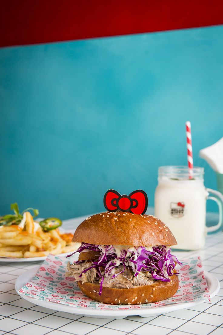 The most kawaii burger in Sydney courtesy of Hello Kitty Diner