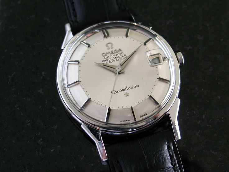 '66 Omega Constellation Pie Pan Date SS