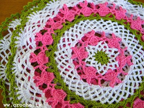 CROCHE: Toalhinha de croche coelhinho passo a passo: Crochet Doilies Patterns, Crochet Doily Patterns