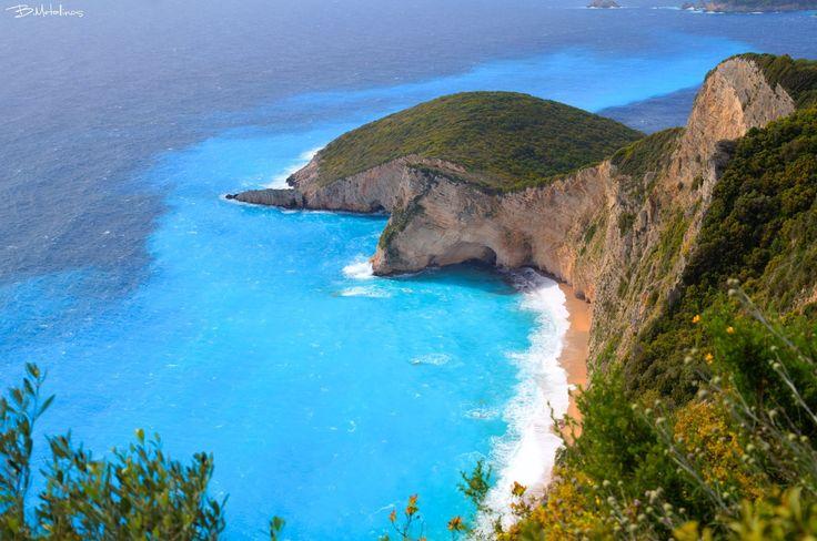 Chomi beach, Liapades, Corfu. Photo by: Bill Metallinos. #GreenCorfu - greencorfu.com - https://pinterest.com/greencorfu/