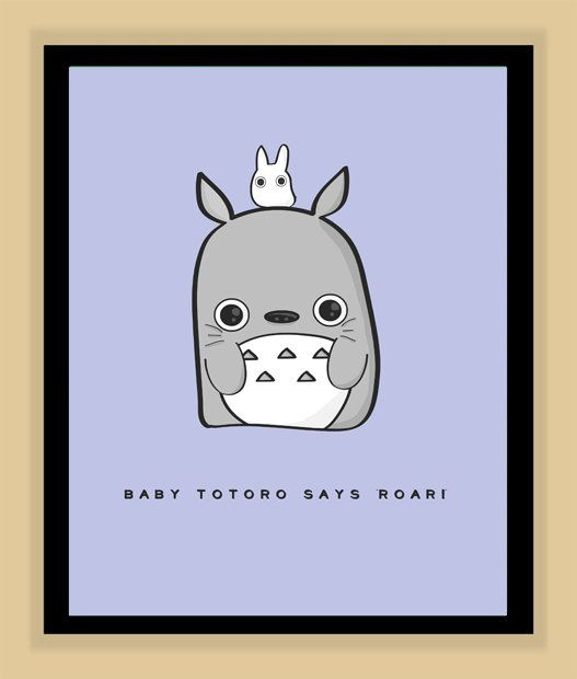 Hey, I found this really awesome Etsy listing at http://www.etsy.com/listing/158473900/baby-totoro-nursery-art-miyazaki-and